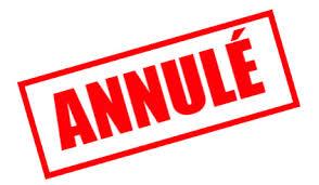 Annulation des activités – Patin Laval